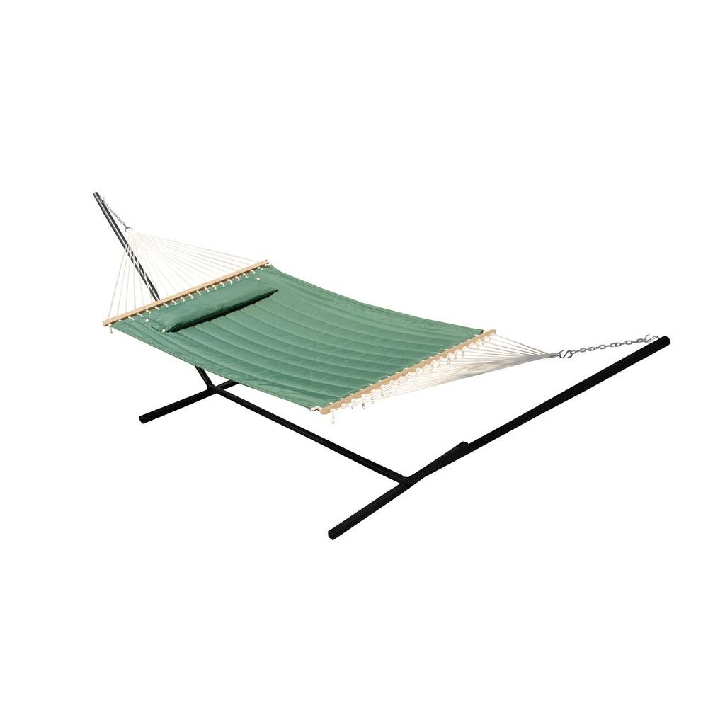 Medium image of premium poly double hammock in elm green