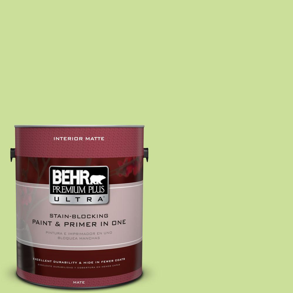 1 gal. #420A-3 Key Lime Matte Interior Paint and Primer in