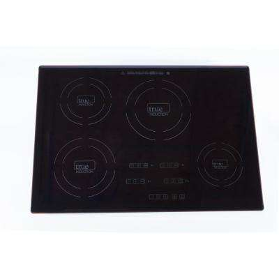 30 in. Glass Induction Cooktop in Black with 4 Induction Elements