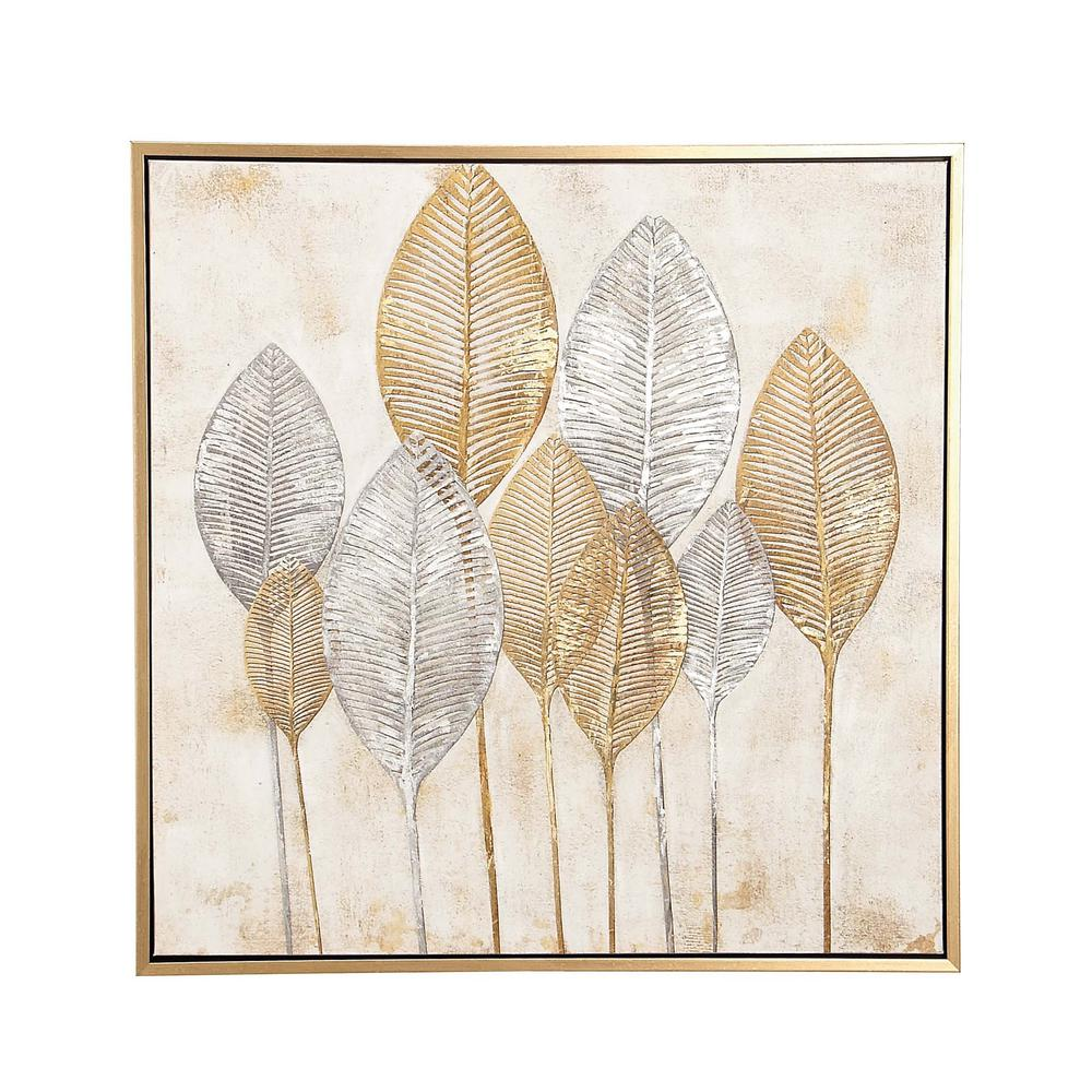 Gold and Silver Veined Leaves\