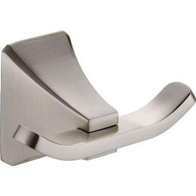 Shangri-La Double Robe Hook in Satin Nickel