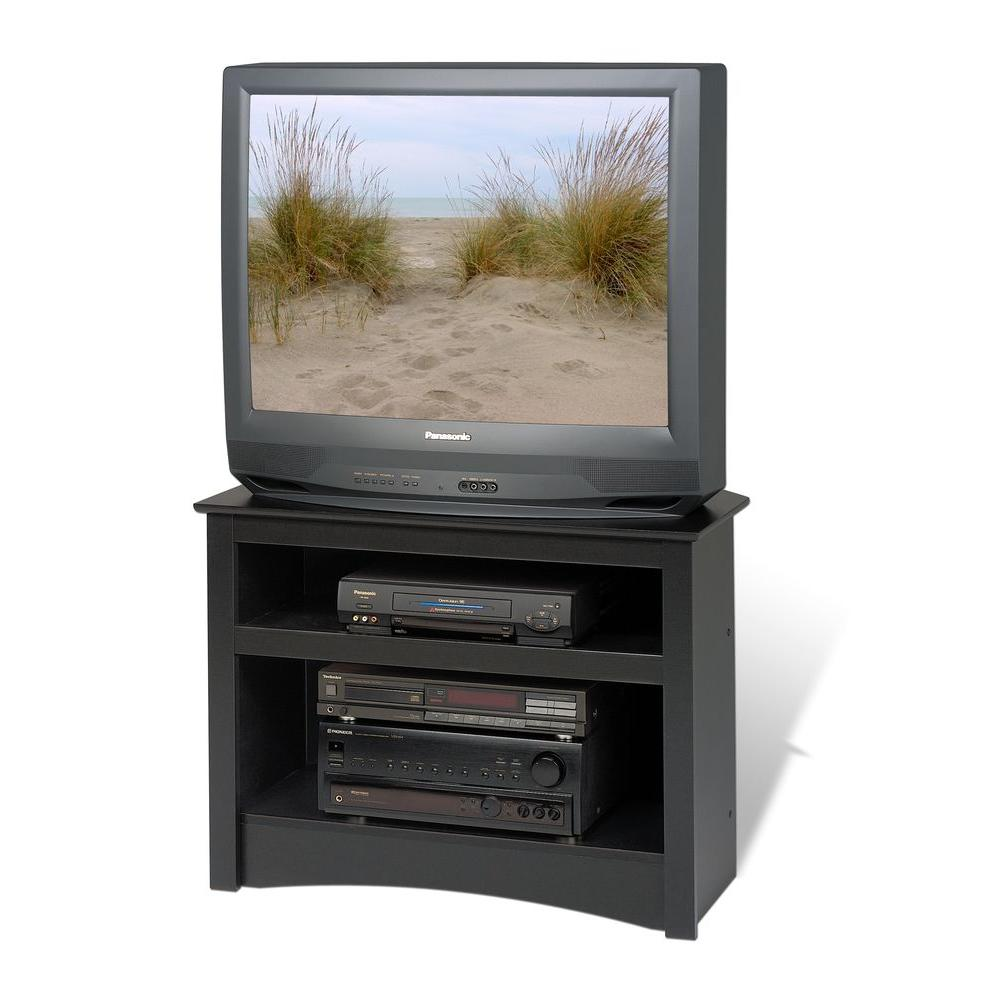 Prepac Sonoma Black Entertainment Center Btv 3224 The Home Depot