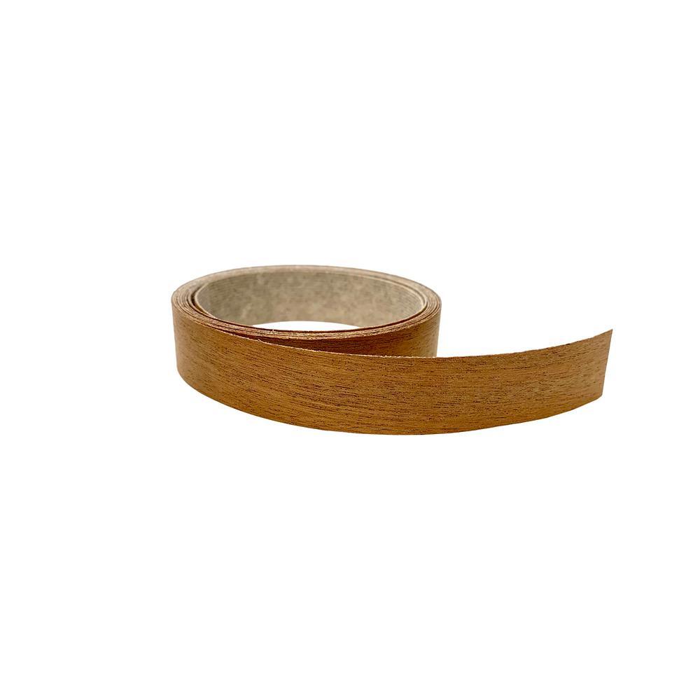 13/16 in. x 25 ft. Mahogany Real Wood Veneer Edgebanding with Hot Melt Adhesive