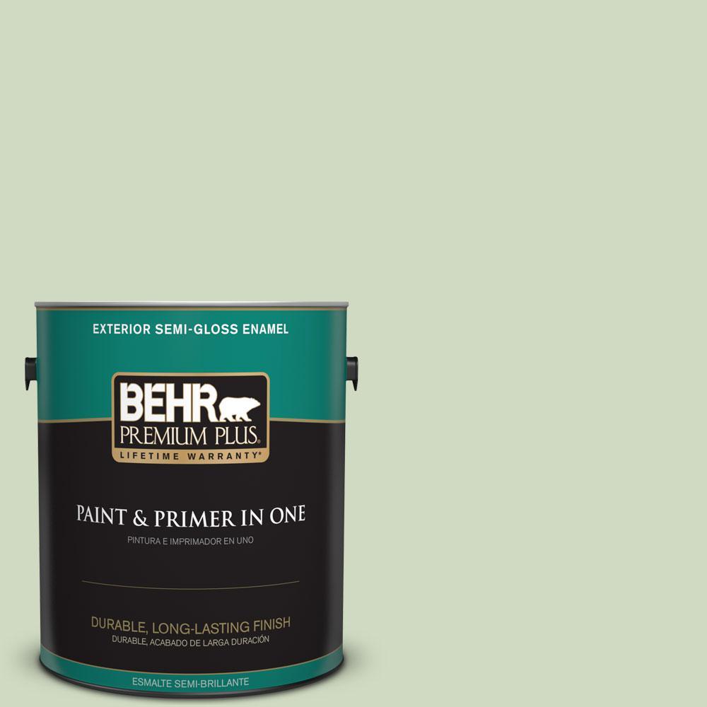 1-gal. #M380-2 Glade Green Semi-Gloss Enamel Exterior Paint