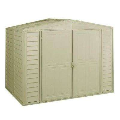 8 ft. x 5.25 ft. Vinyl Shed with Foundation