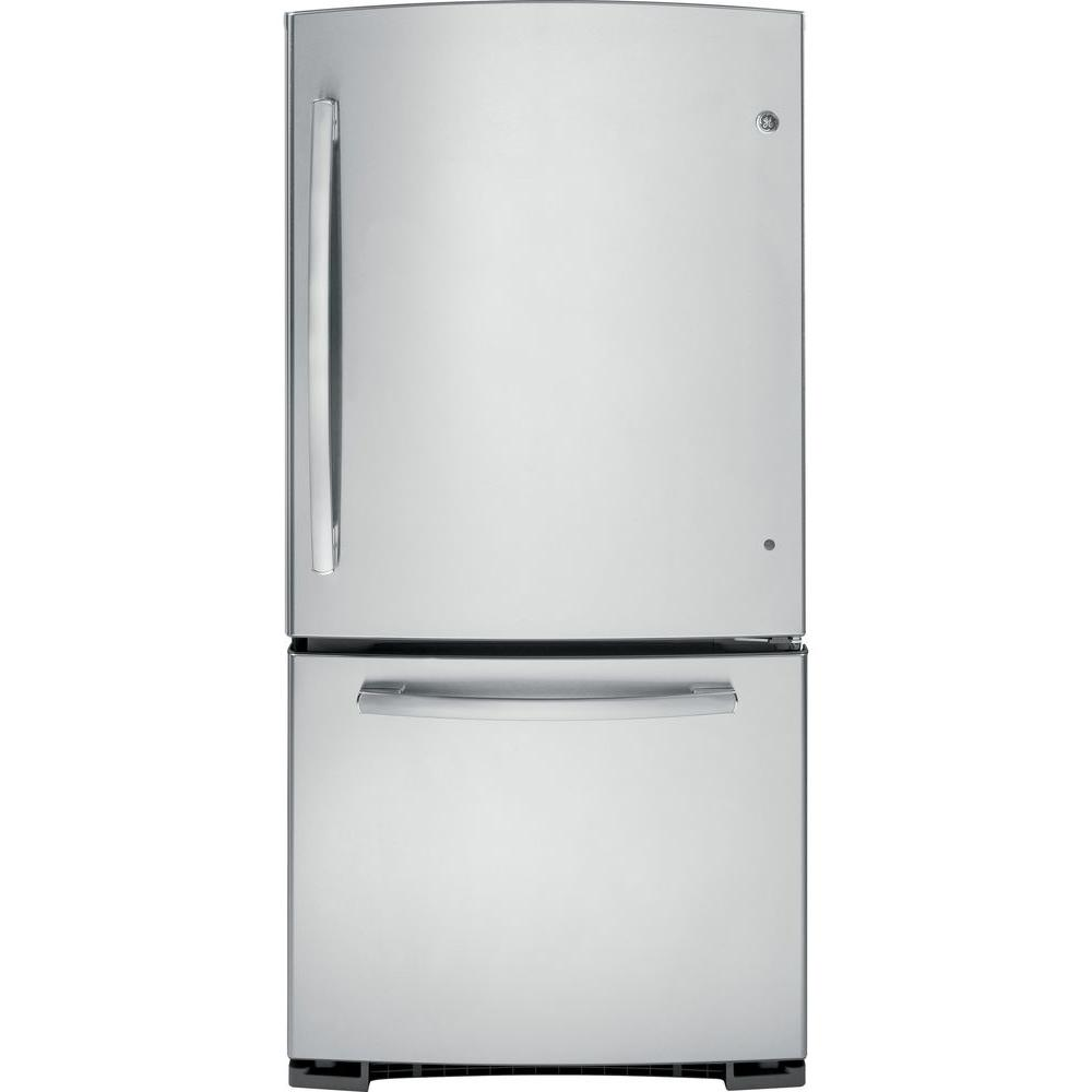 GE 23.1 cu. ft. Bottom Freezer Refrigerator in Stainless Steel