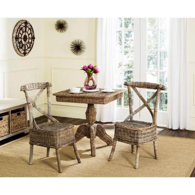 Katell Grey Rattan Side Chair (Set of 2)