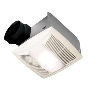 Nutone Bathroom Fan With Light decorative white 100 cfm ceiling exhaust fan with light and night