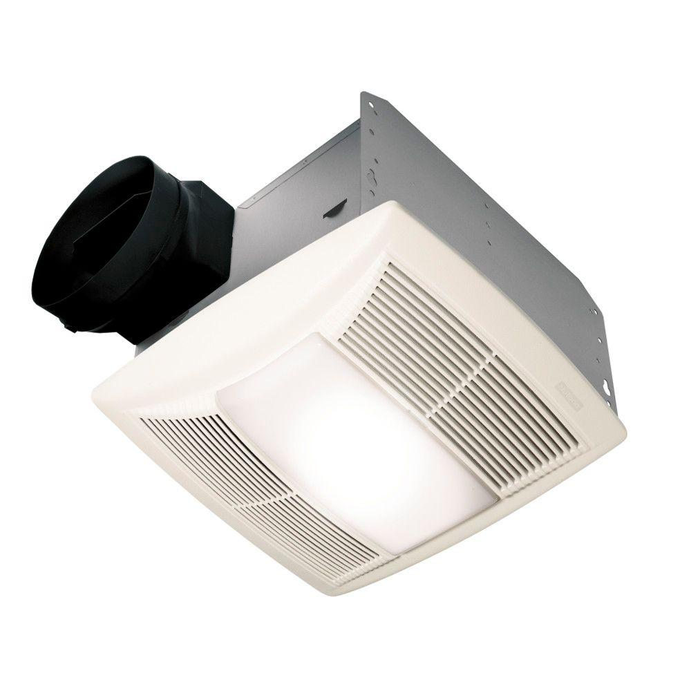 Nutone Qt Series Quiet 130 Cfm Ceiling Exhaust Fan With Light And Night Energy