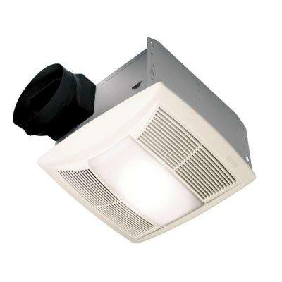 QT Series Quiet 130 CFM Ceiling Bathroom Exhaust Fan with Light and Night Light, ENERGY STAR*