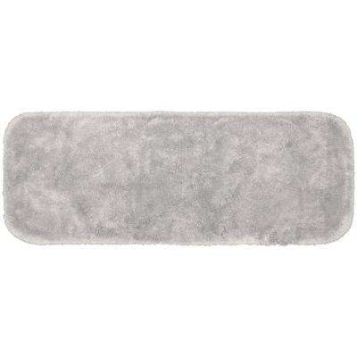 Finest Luxury Platinum Gray 22 in. x 60 in. Plush Nylon Bath Mat