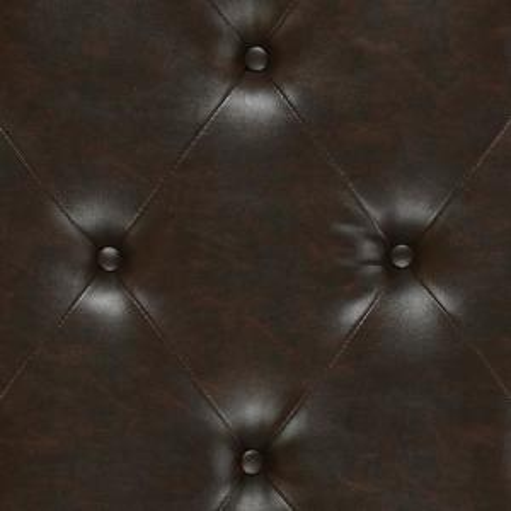 Brilliant Dorel Living Hastings Brown Tufted Faux Leather Ottoman Machost Co Dining Chair Design Ideas Machostcouk