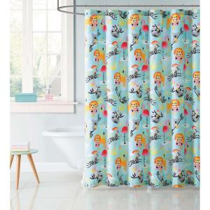 Laura Hart Kids 72 In Party Multi Animals Shower Curtain SC2324 6200