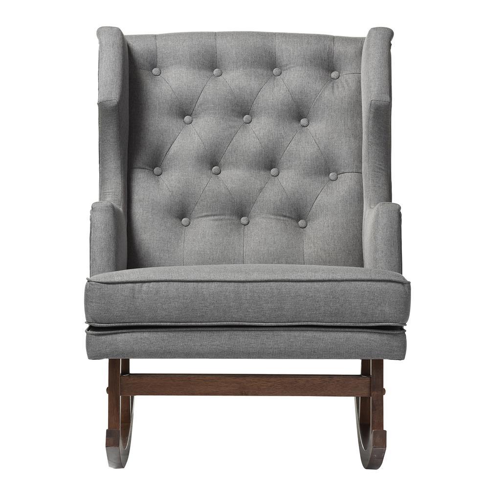 Luxury Grey Accent Chair Interior