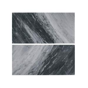 Bardiglio Polished 6 In X 12 Marble Wall Tile 2 Piece
