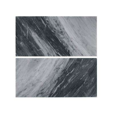 Bardiglio Polished 6 in. x 12 in. Marble Wall Tile (2-Piece 1 Sq. Ft./pack)