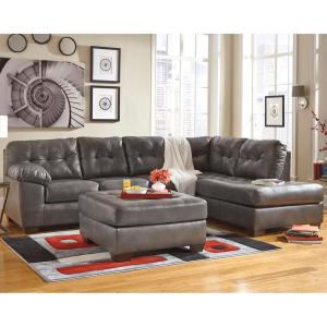 Awesome Signature Design By Ashley Alliston Gray Durablend Sectional With Right Side Facing Chaise Caraccident5 Cool Chair Designs And Ideas Caraccident5Info