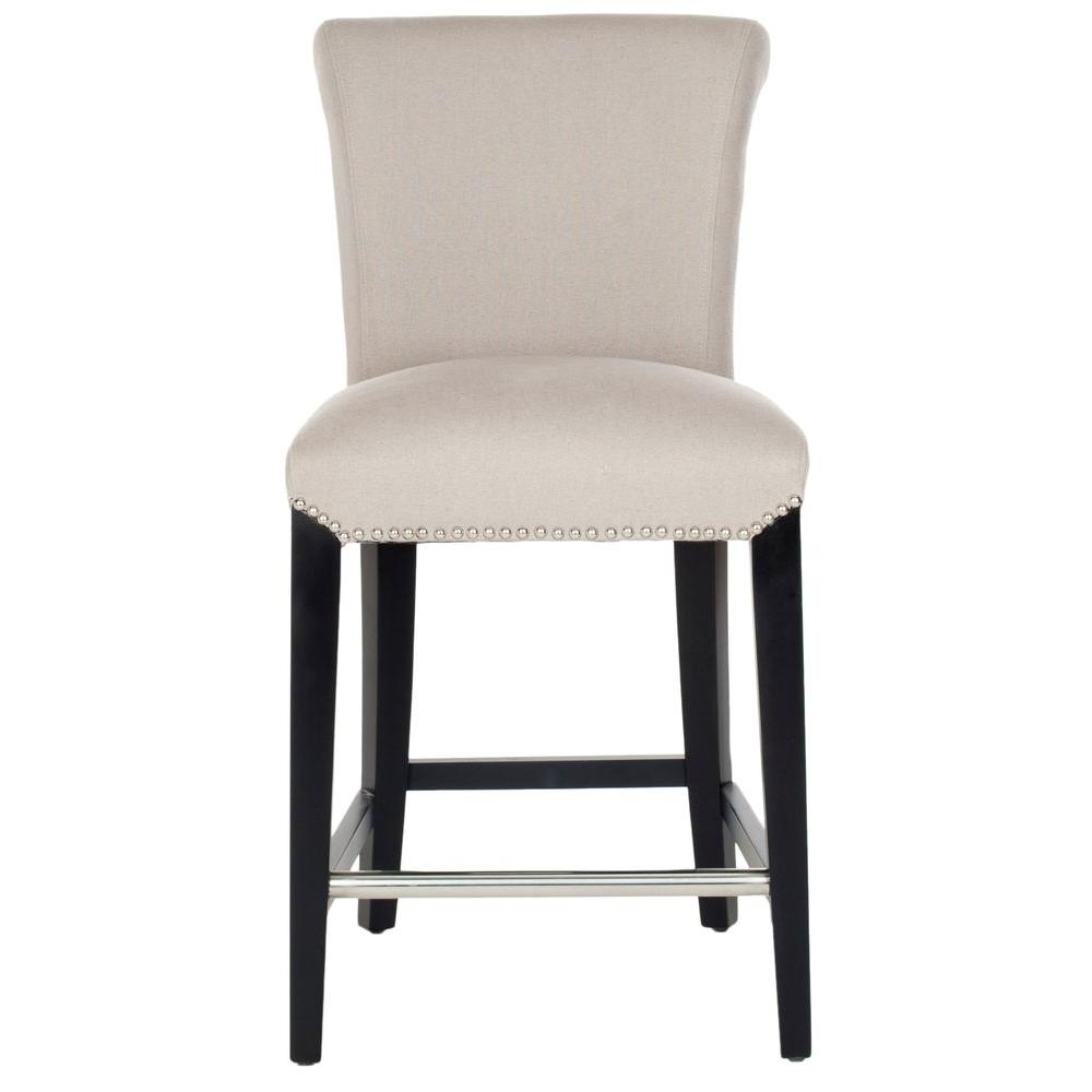 Taupe Cushioned Bar Stool  sc 1 st  The Home Depot : taupe leather bar stools - islam-shia.org