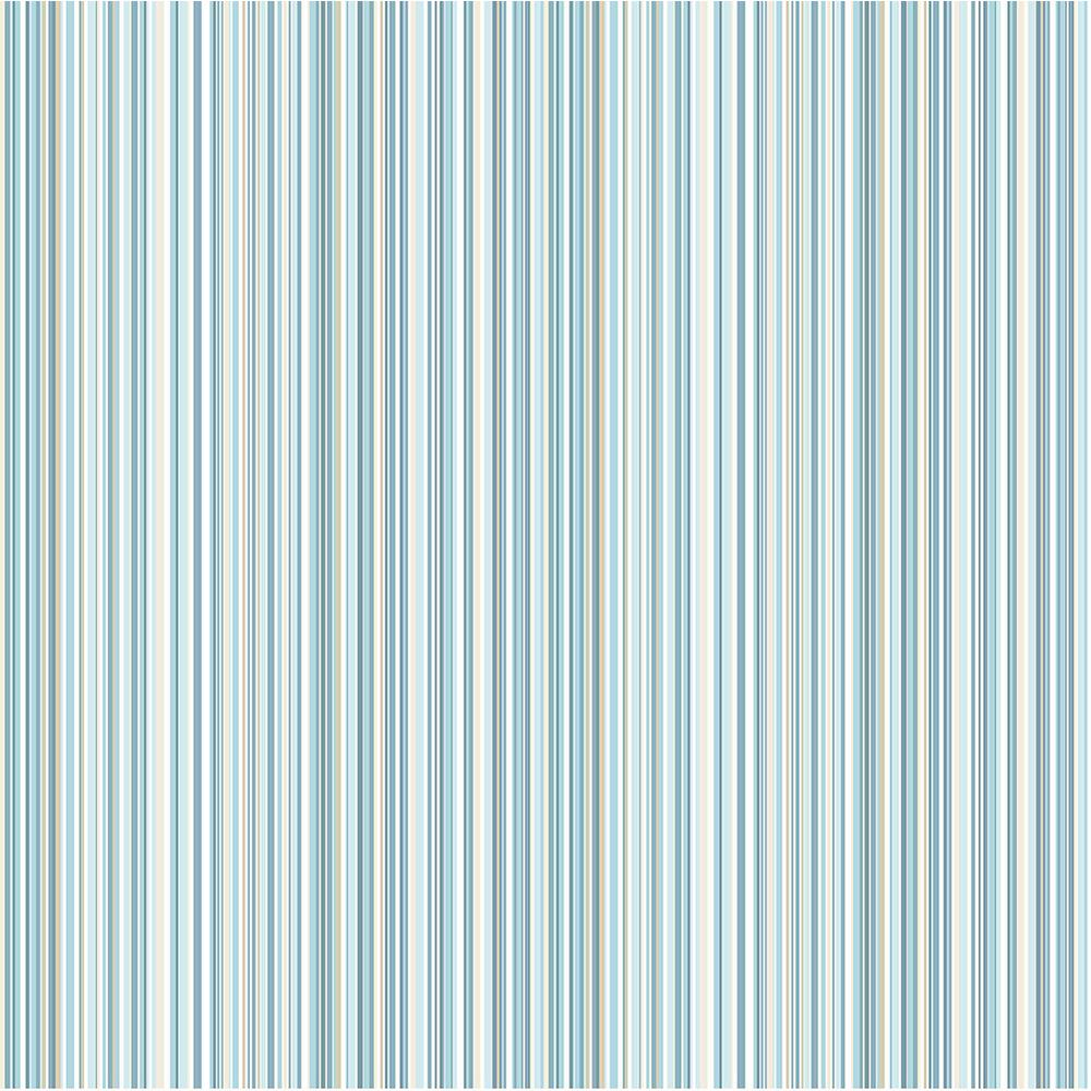 Martinez Blue Striped Wallpaper