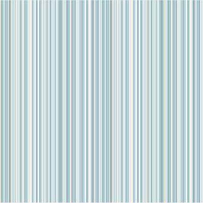 56.4 sq. ft. Martinez Blue Striped Wallpaper