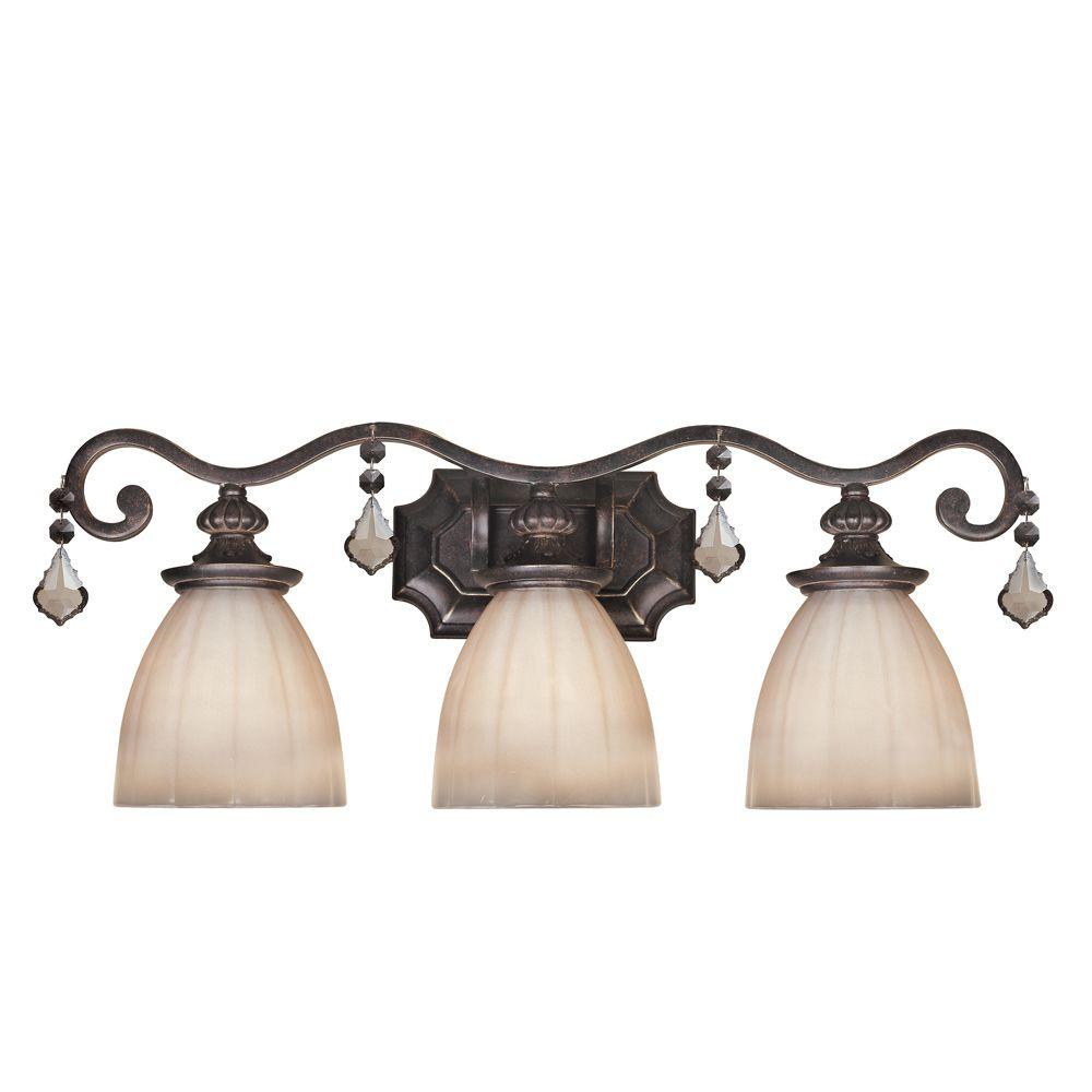 World Imports Avila Collection 3-Light Bronze Vanity Light