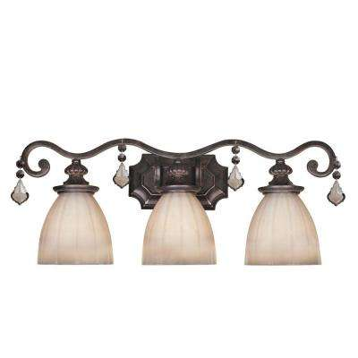 Avila Collection 3-Light Bronze Bath Bar Light
