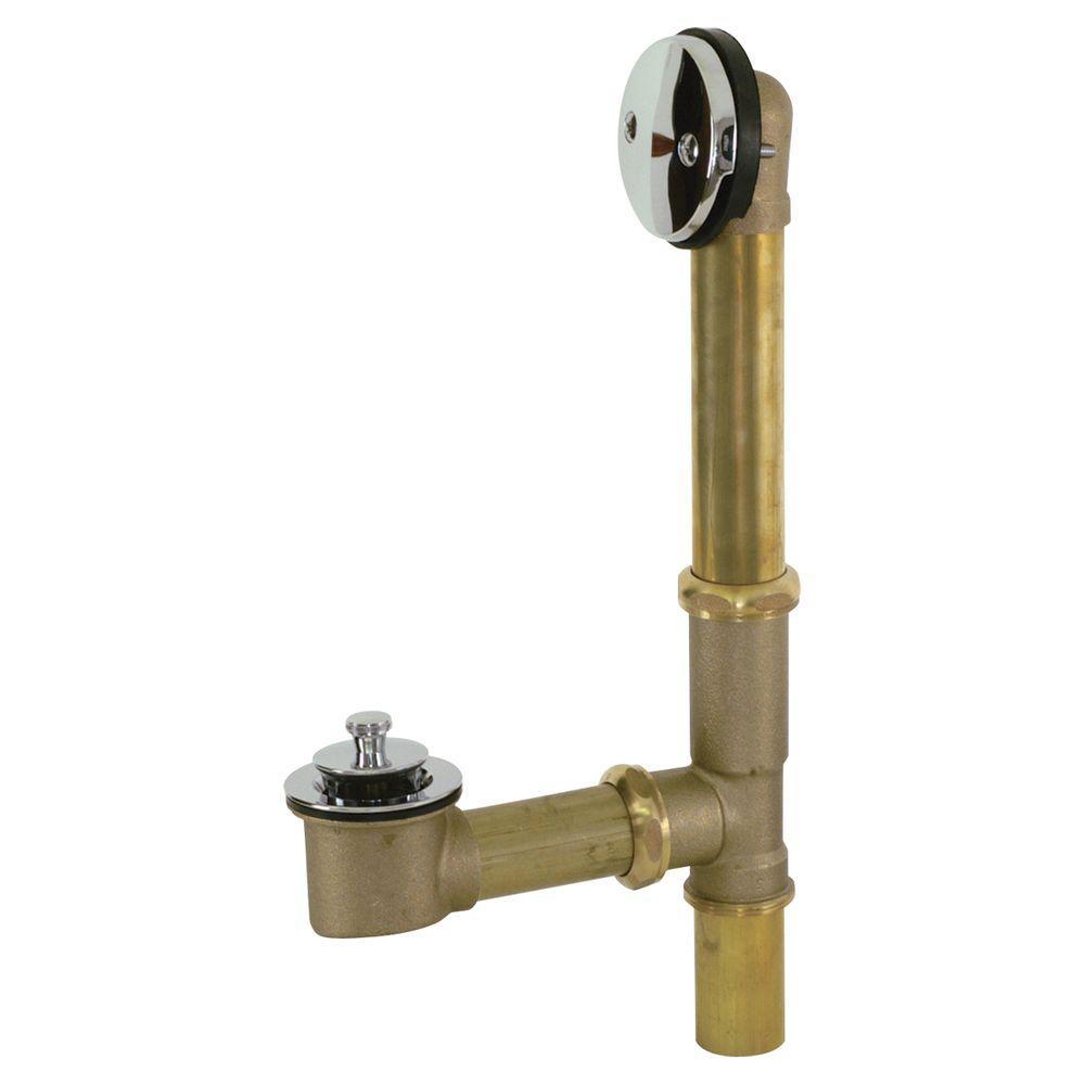 Brass 20-Gauge Lift and Lock Bath Waste