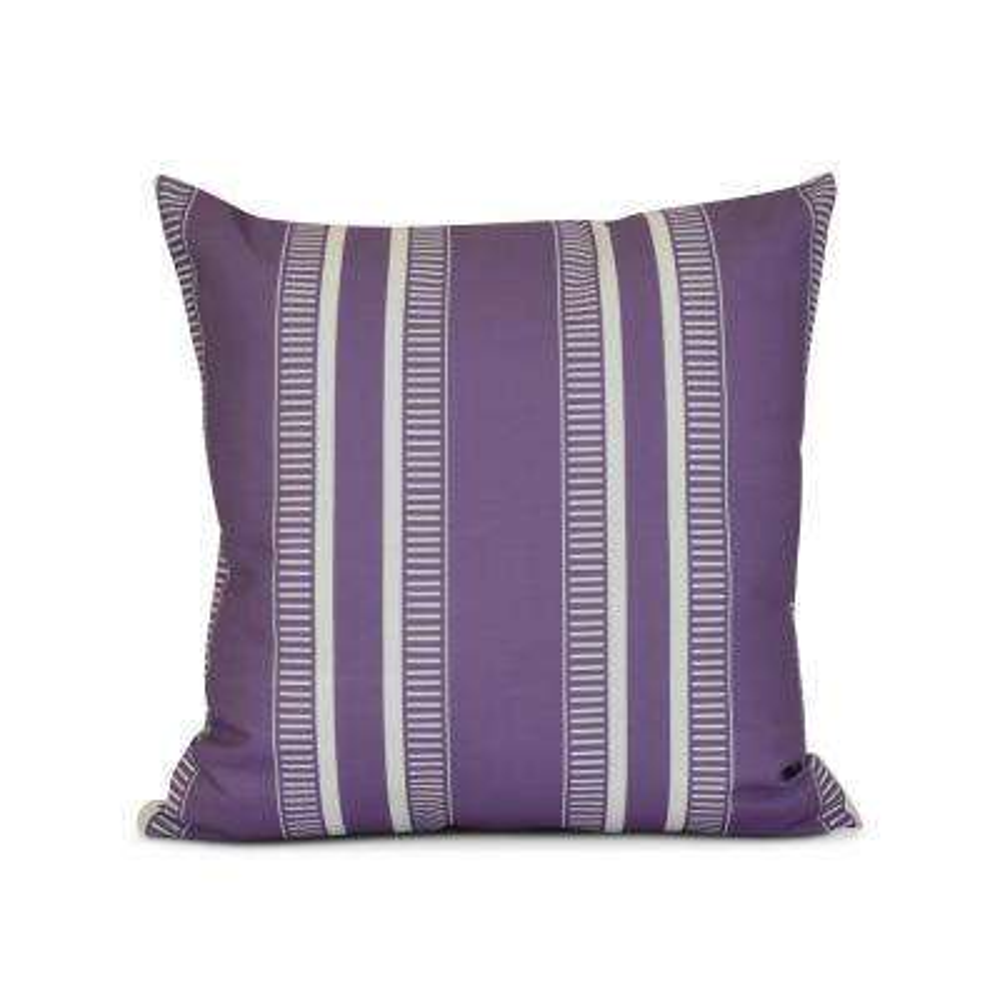 16 in. Purple Dashing Stripe Print Pillow
