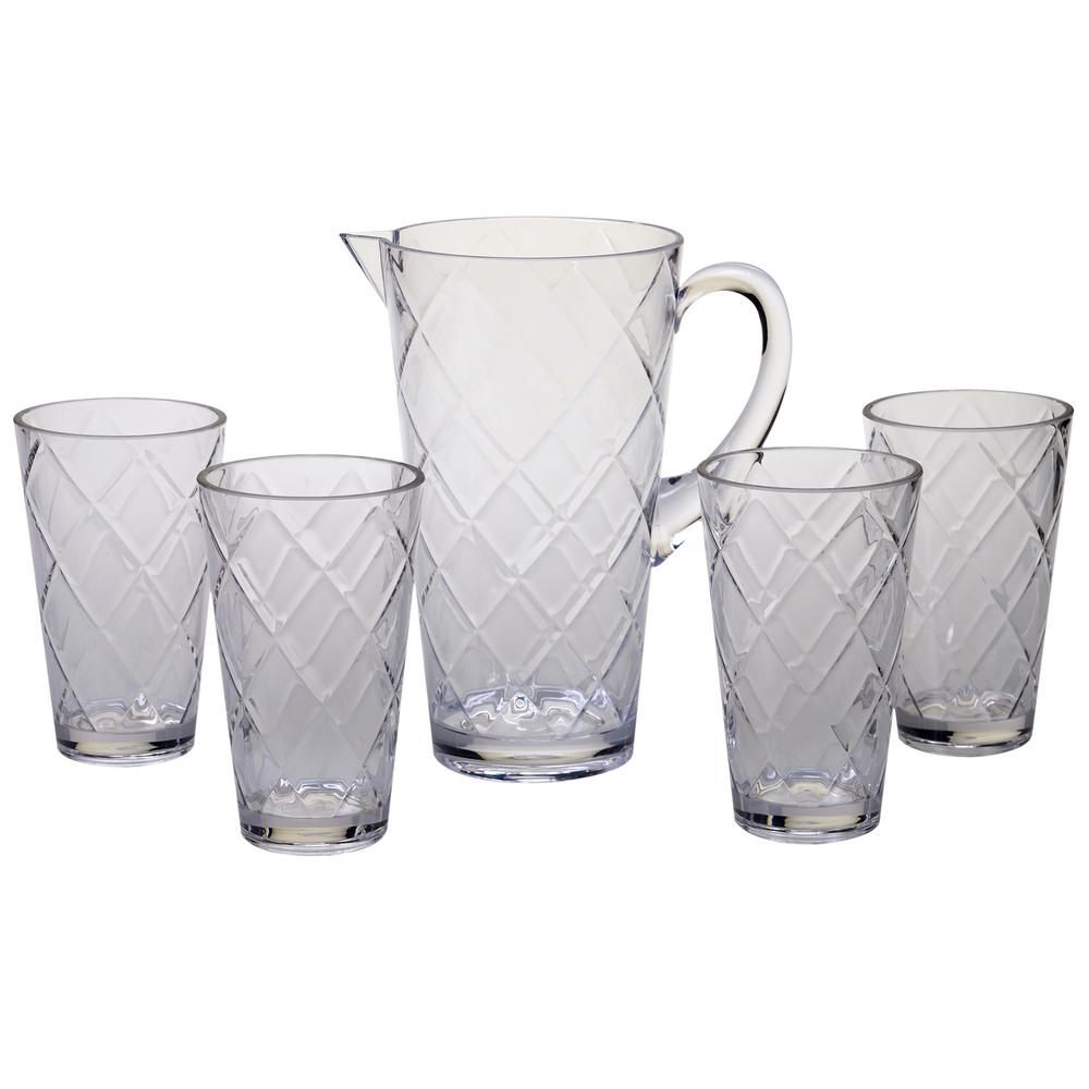 5-Piece Clear Drinkware Set