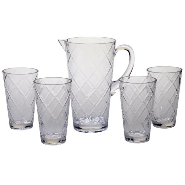 Certified International 5-Piece Clear Drinkware Set CLEAR5PC