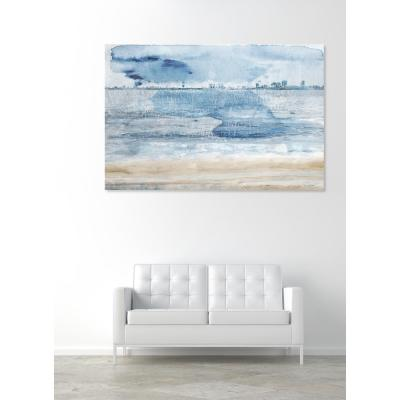 "45 in. x 30 in. ""Miami Bay"" by Oliver Gal Printed Framed Canvas Wall Art"