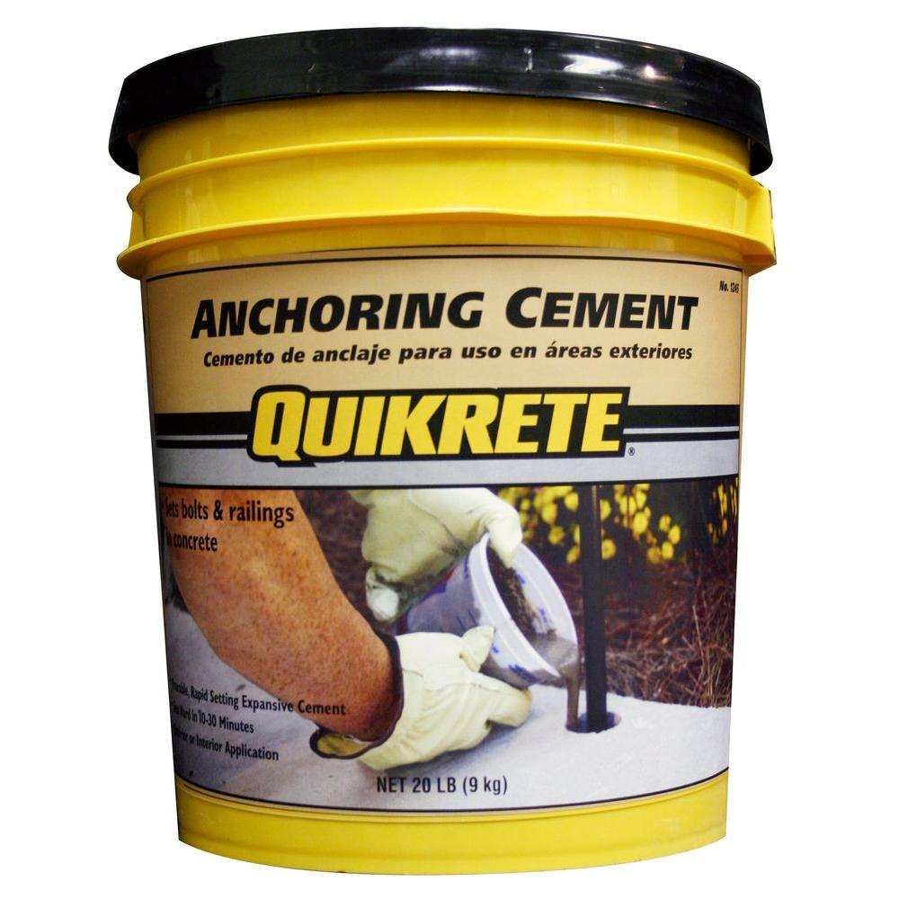 Quikrete 1245-20 Anchoring Cement, 20 lb Pail, Gray to Gray Brown Powder