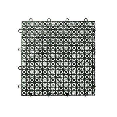Armadillo Tile Black 12 in. x 12 in. Polypropylene Interlocking Multipurpose Floor Tile (9-Pack)