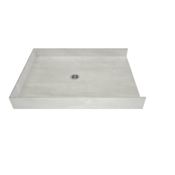Tile Redi Redi Free 44 In X 38 In Barrier Free Shower Base With Center Drain 4438cbf Pvc The Home Depot
