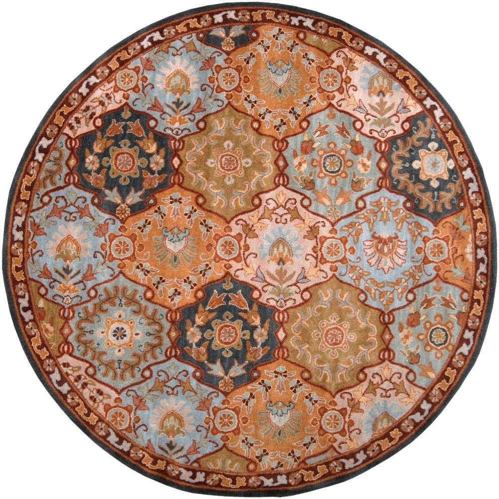 artistic weavers michael teal blue 4 ft round area rug labrador 4rd the home depot. Black Bedroom Furniture Sets. Home Design Ideas