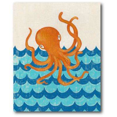 "16 in. x 20 in. ""Under the sea II"" Gallery Wrapped Canvas Printed Wall Art"