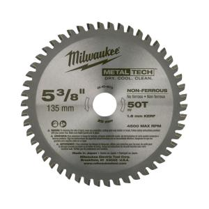Milwaukee 5-3/8 inch x 50 Tooth Non-Ferrous Metal Circular Saw Blade by Milwaukee