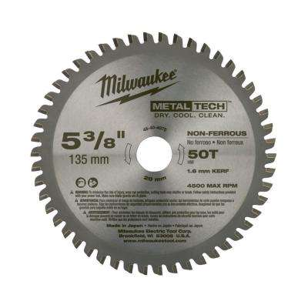 5-3/8 in. x 50 Tooth Non-Ferrous Metal Circular Saw Blade