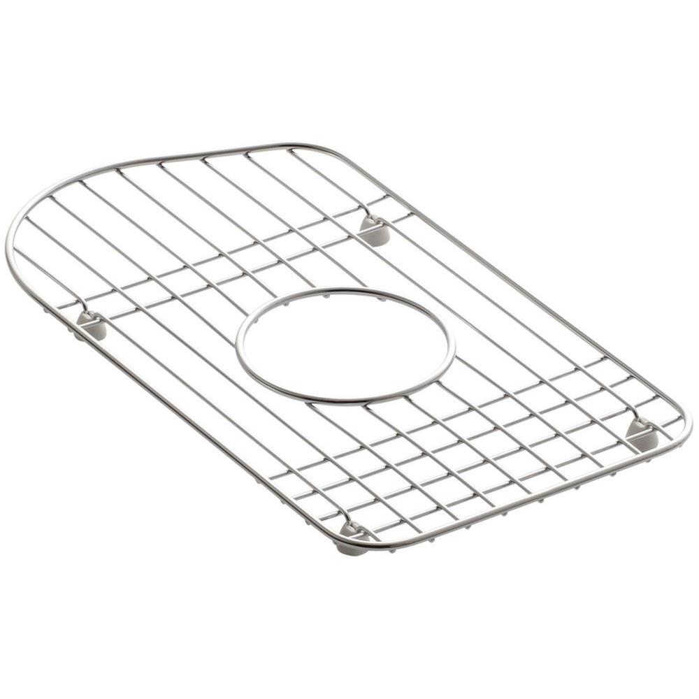 KOHLER Staccato 15 in. x 8-7/16 in. Bottom Sink Basin Rack in Stainless Steel