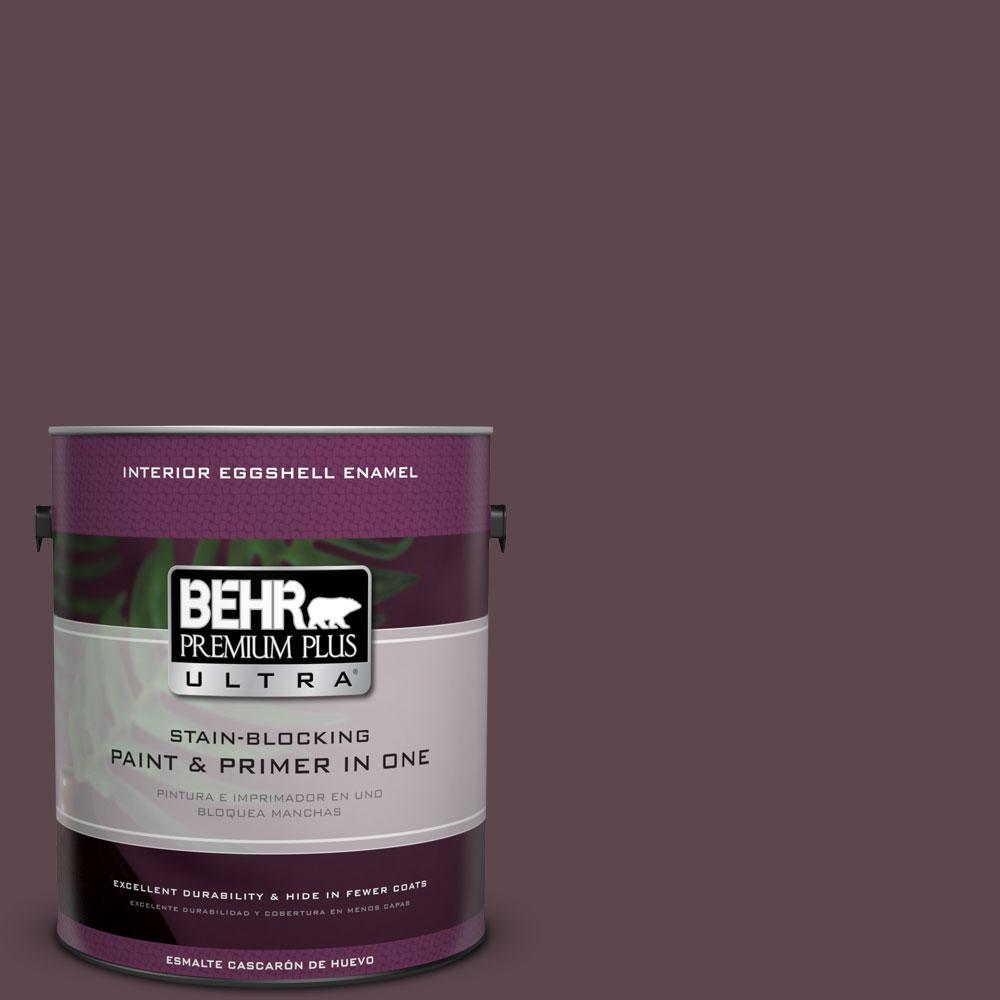 BEHR Premium Plus Ultra 1-gal. #100F-7 Deep Aubergine Eggshell Enamel Interior Paint