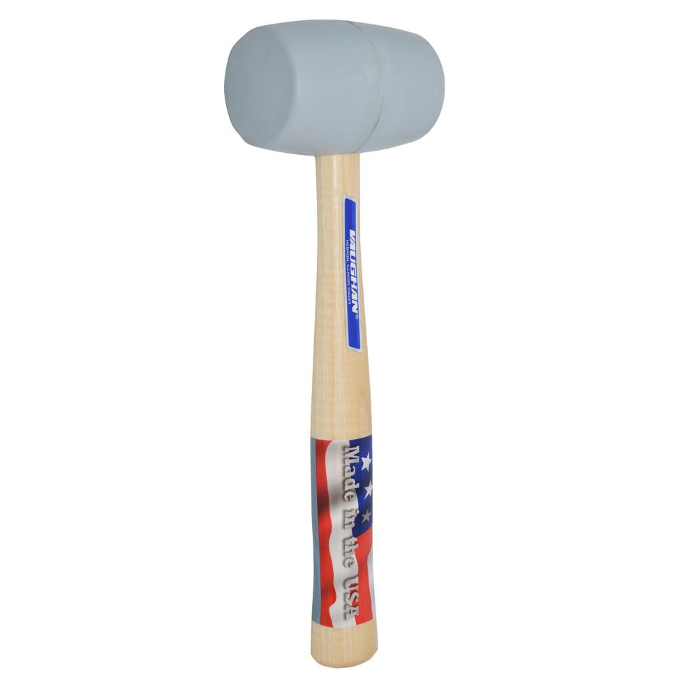 Vaughan 20 Oz White Rubber Mallet With 13 In Hickory Handle Rm2w The Home Depot