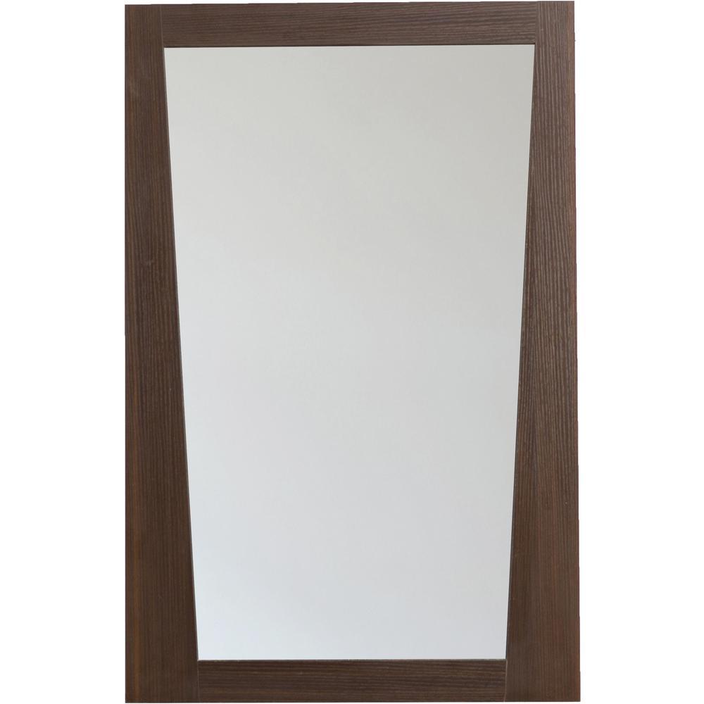 16-Gauge-Sinks 21.5 in. x 33.5 in.Single Framed Wall Mirror in Melamine Wenge