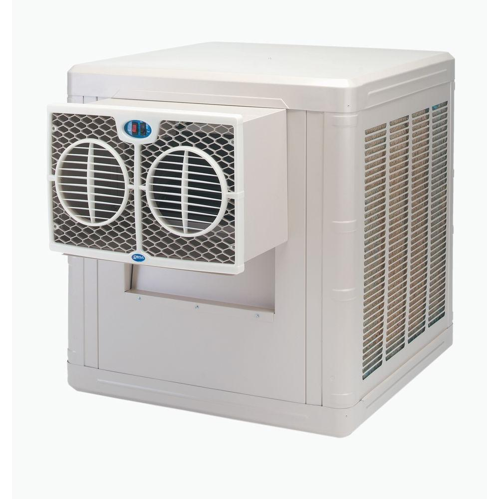 3500 CFM 2-Speed Front Discharge Window Evaporative Cooler for 800 sq.