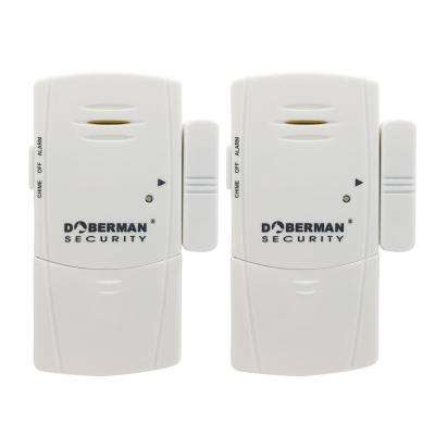 Door and Window Defender Wireless Alarm with Chime, White (2-Pack)
