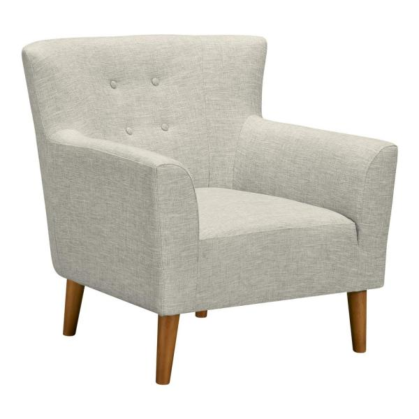 Armen Living Hyland Beige Fabric Accent Chair LCHLCHBE