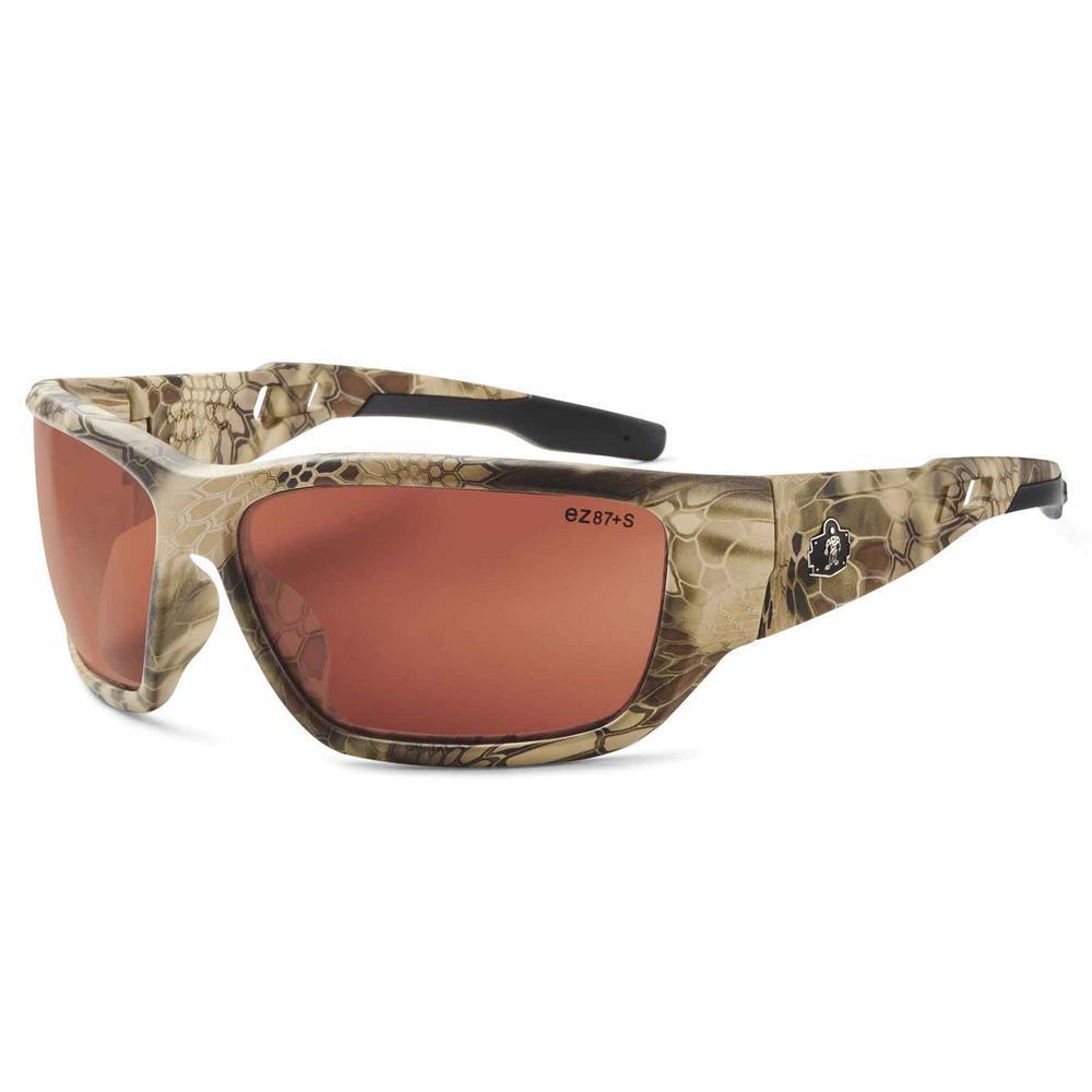 Skullerz Baldr Kryptek Highlander Polarized Safety Glasses, Tinted Lens - ANSI Certified