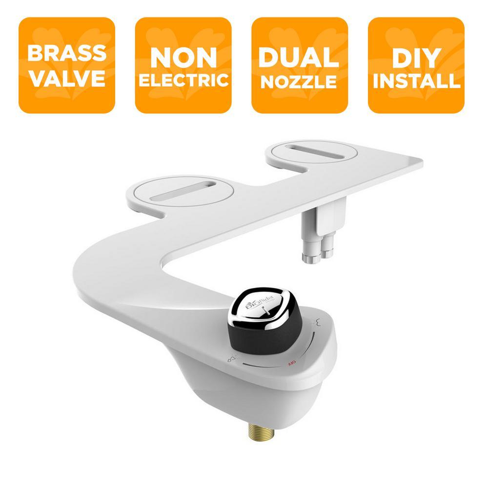 Biobidet Slim Edge Non Electric Bidet Attachment System In White Slimedge The Home Depot