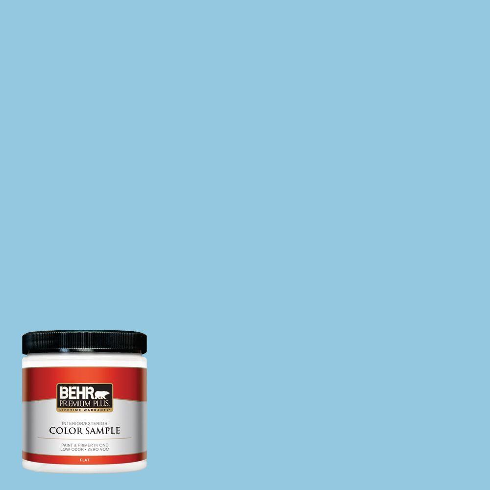 BEHR Premium Plus 8 oz. #550D-4 Caribbean Coast Interior/Exterior Paint Sample