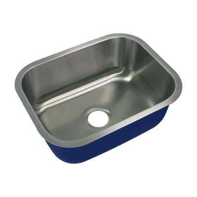 Meridian Undermount Stainless Steel 23.125 in. Single Bowl Kitchen Sink in Brushed Stainless Steel