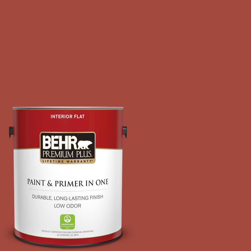 1 gal. #170D-7 Farmhouse Red Flat Low Odor Interior Paint and